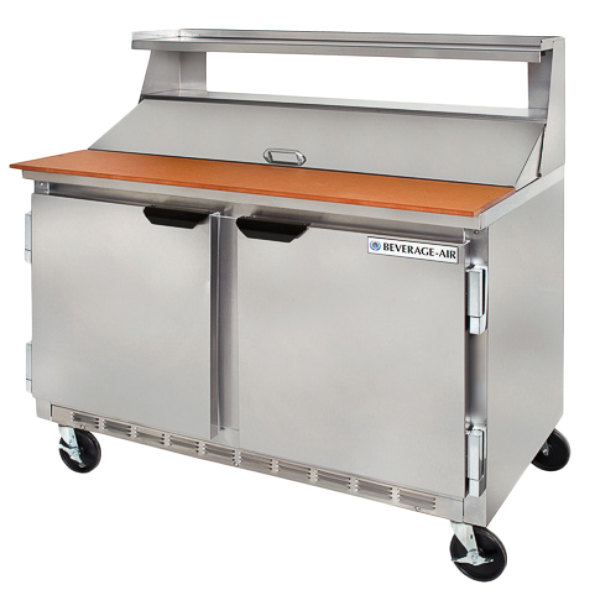 "Beverage Air SPE48-08 48"" Refrigerated Salad / Sandwich Prep Table"