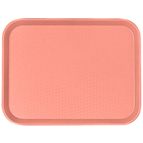 "Cambro 1014FF409 10"" x 14"" Blush Customizable Fast Food Tray - 24/Case"