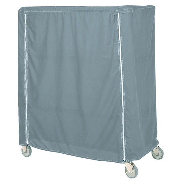 "Metro 24X48X62VCMB Mariner Blue Coated Waterproof Vinyl Shelf Cart and Truck Cover with Velcro® Closure 24"" x 48"" x 62"""