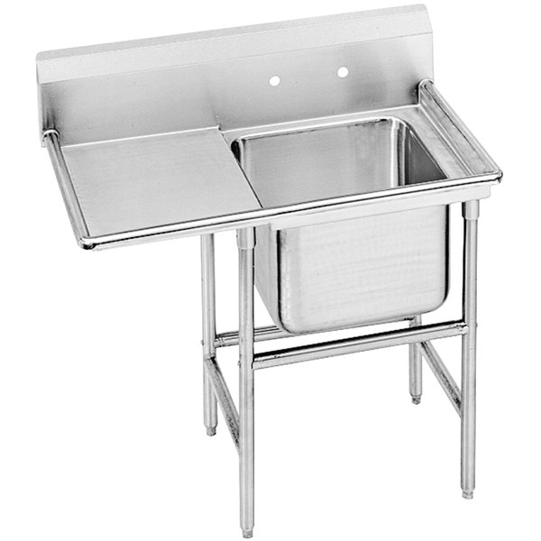 Advance Tabco 94-61-18-24 Spec Line One Compartment Pot Sink with One Drainboard - 48""