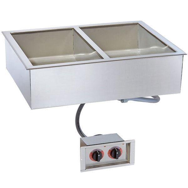 "Alto-Shaam 200-HW/D4 Two Pan Drop In Hot Food Well - 4"" Deep Pans"