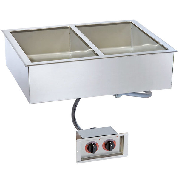 "Alto-Shaam 200-HW/D6 Two Pan Drop In Hot Food Well - 6"" Deep Pans"