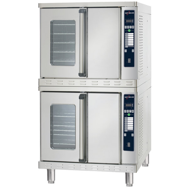 Alto-Shaam ASC-4EST Platinum Series Stacked Full Size Electric Convection Oven with Manual Controls - 240V, 3 Phase, 10400W