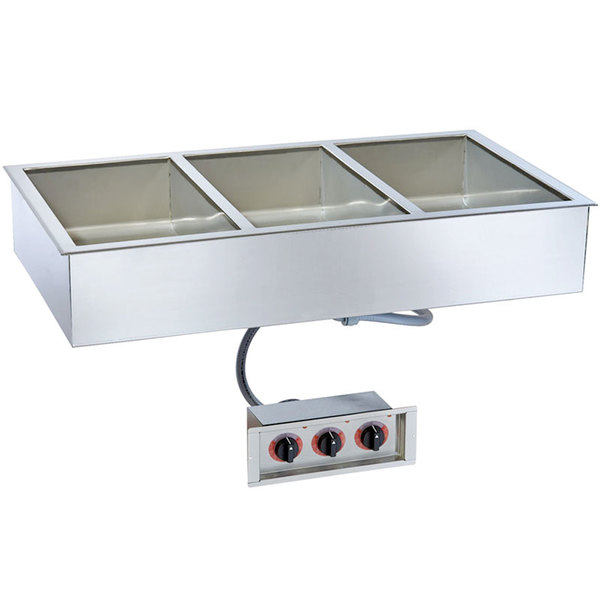 "Alto-Shaam 300-HW/D6 Three Pan Drop In Hot Food Well - 6"" Deep Pans"
