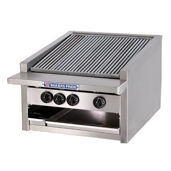 "Bakers Pride L-72R 72"" Low Profile Gas Radiant Charbroiler - 306,000 BTU"