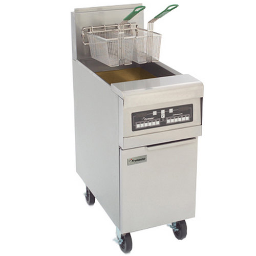 Frymaster PMJ145C-2 Split Pot Gas Fryer 50 lb. with Computer Magic Controls - 127,000 BTU