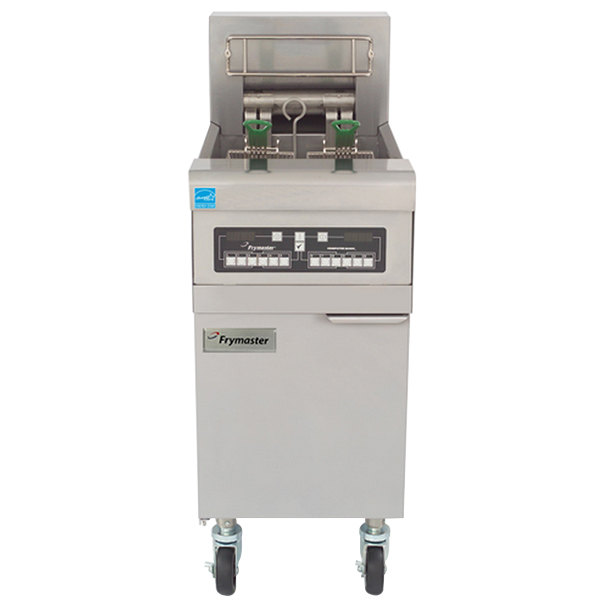 Frymaster RE14BLC-SD 50 lb. High Efficiency Electric Floor Fryer with Computer Magic Controls and Basket Lifts - 14 KW
