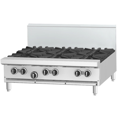 "Garland G36-4G12T 4 Burner Modular Top 36"" Gas Range with 12"" Griddle - 150,000 BTU"