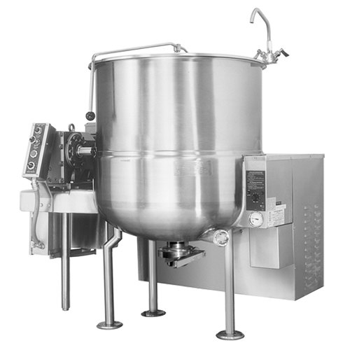 Cleveland HA-MKGL-100 100 Gallon Stationary 2/3 Steam Jacketed Gas Horizontal Mixer Kettle - 190,000 BTU