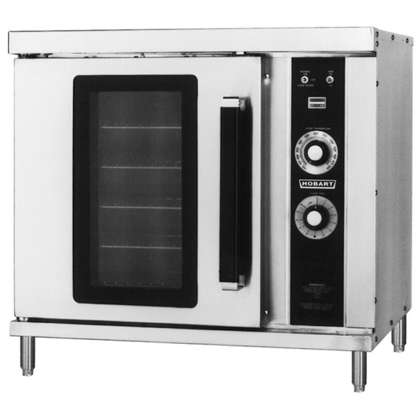 Hobart HGC202 Double Deck Half Size Gas Convection Oven - 50,000 BTU