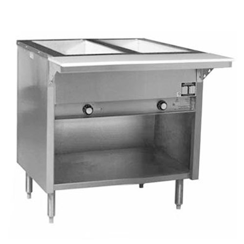 Eagle Group HT2OBE Spec Master Series Electric Steam Table with Enclosed Base - Two Pan - Open Well