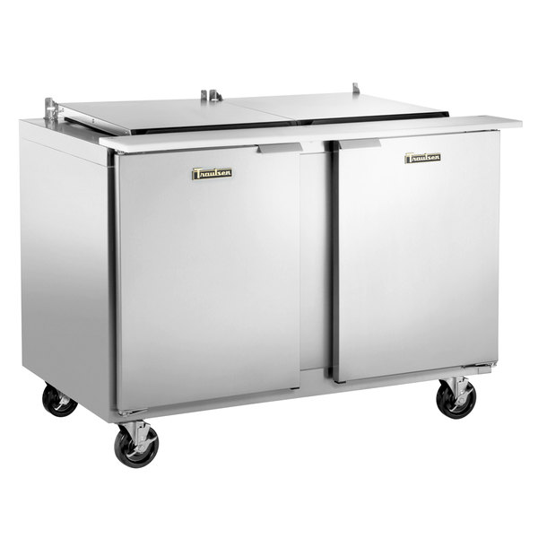 "Traulsen UST4812-RR 48"" 2 Right Hinged Door Refrigerated Sandwich Prep Table"