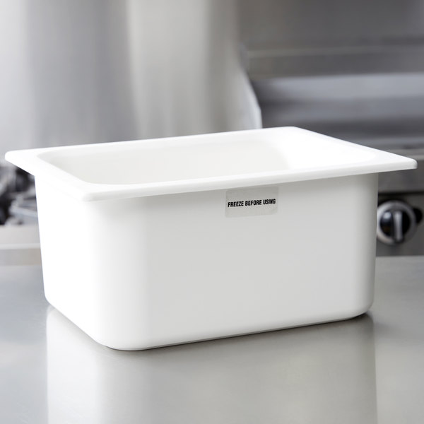 "Carlisle CM110102 Coldmaster 1/2 Size White Cold Food Pan - 6"" Deep"