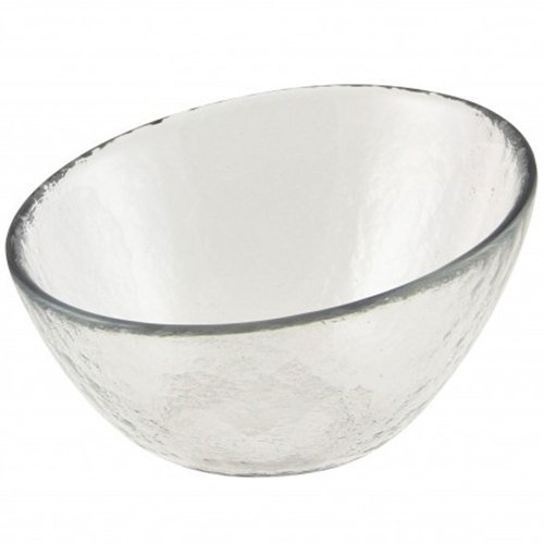 "10 Strawberry Street HAG-5BWL Hammered Glass 5"" Angled Bowl - 36 / Case"
