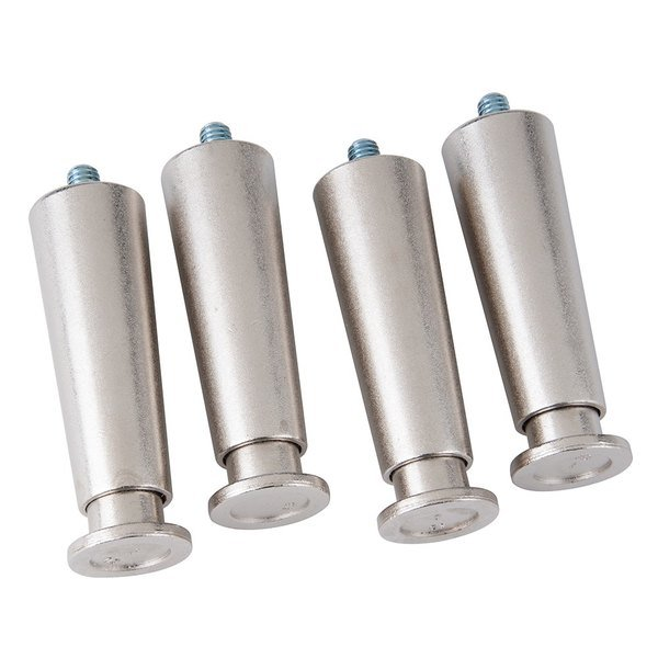Cooking Performance Group 390101 4 inch Leg for CPG Countertop Equipment - 4/Pack