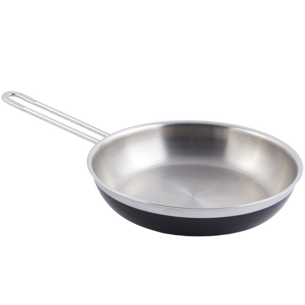 Bon Chef 60308 Classic Country French Collection 2 Qt. 12 oz. Black Saute Pan / Skillet with 1 Long Handle