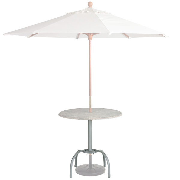 Grosfillex Us528109 99528109 Silver Gray Bar Height Tulip Table