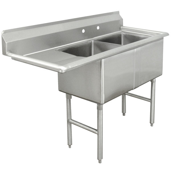 Advance Tabco FC-2-2424-24 Two Compartment Stainless Steel ...
