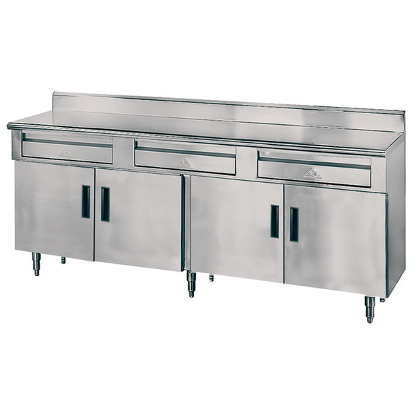 Advance Tabco HDRC X Gauge Enclosed Base Stainless - Stainless steel work table with drawers
