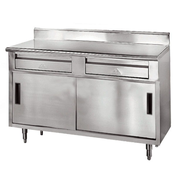 Advance Tabco SDRC X Gauge Enclosed Base Stainless - Enclosed stainless steel work table