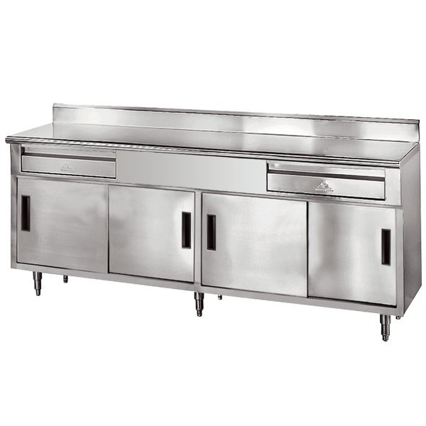 Advance Tabco SDRC X Gauge Enclosed Base Stainless - Stainless steel work table with drawers