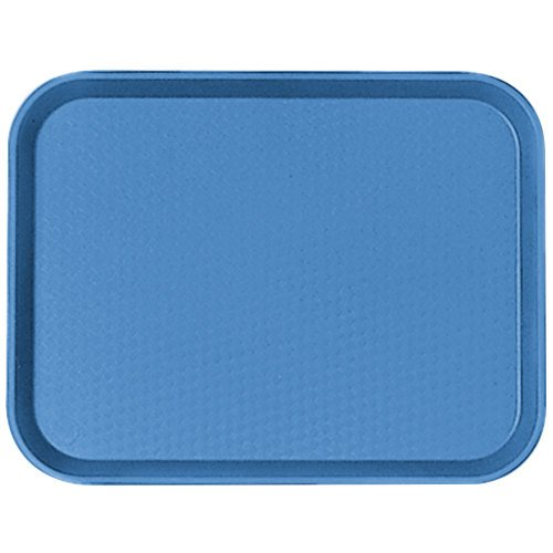 "Cambro 1014FF168 10"" x 14"" Blue Customizable Fast Food Tray - 24/Case"