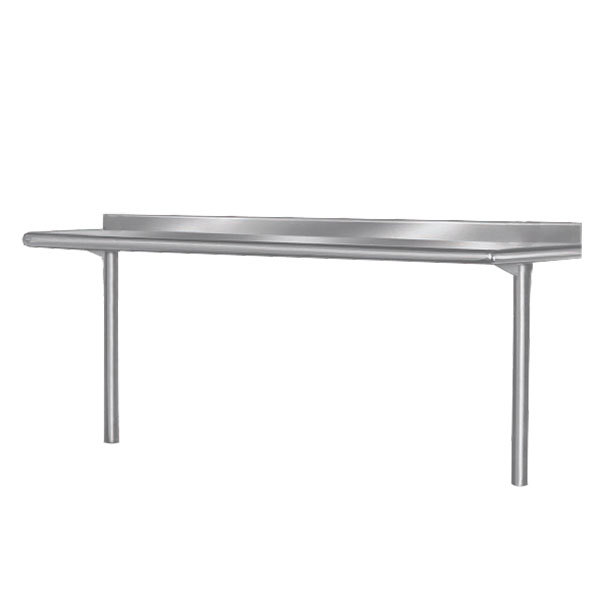 "Advance Tabco PT-15R-108 Smart Fabrication 15"" x 108"" Rear Mount Stainless Steel Shelf"