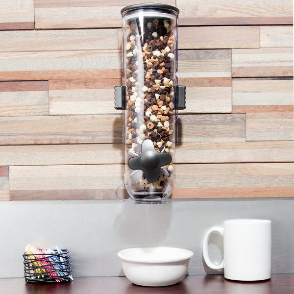 Zevro KCH-06138 SmartSpace Single Canister Wall Mount Dry Food Dispenser