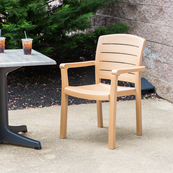 Grosfillex Acadia Dining Armchair 4 pack US119008