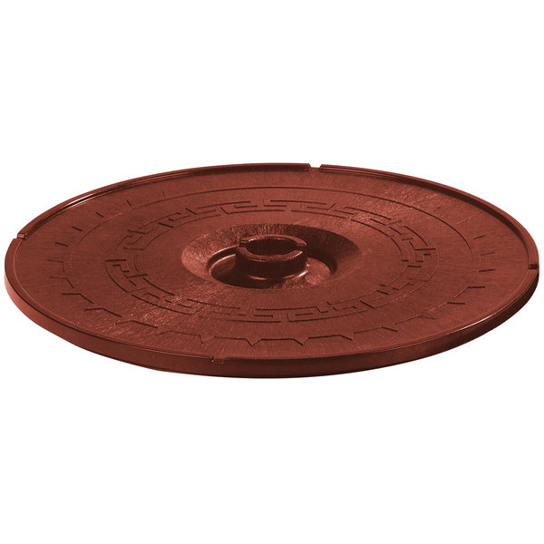 "Carlisle 070329 Terra Cotta Lift-Off Replacement Lid for 071329 8"" Tortilla Server - 12/Case"