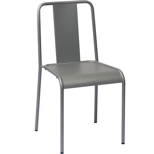 BFM Seating DV580TS Tara X Stackable Outdoor / Indoor Steel Side Chair