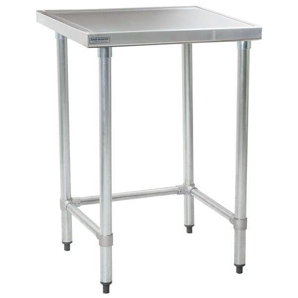 "Eagle Group T2436STEM 24"" x 36"" Open Base Stainless Steel Commercial Work Table"