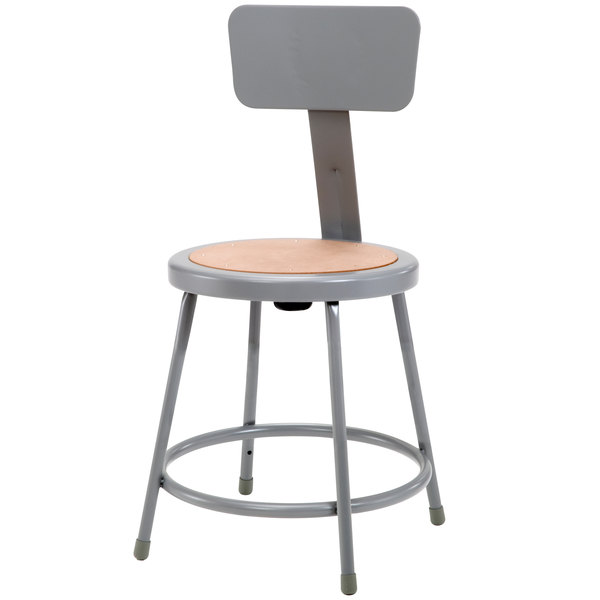 National Public Seating 6218b 18 Quot Gray Round Hardboard Lab