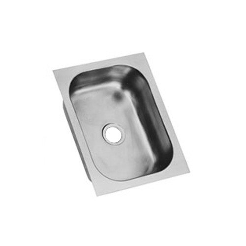 "Eagle Group FDI-10-14-9.5-1 One Compartment 16"" x 12"" Seamless Weld In Sink - 9 1/2"" Deep"