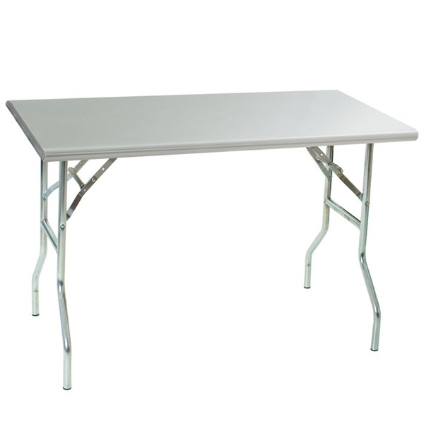 "Eagle Group T3048F 30"" x 48"" Stainless Steel Lok-n-Fold Open Base Table at Sears.com"