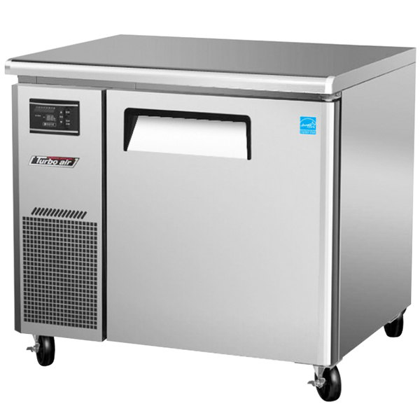 "Turbo Air JUR-36 36"" J Series One Door Undercounter Refrigerator with Side Mounted Compressor"