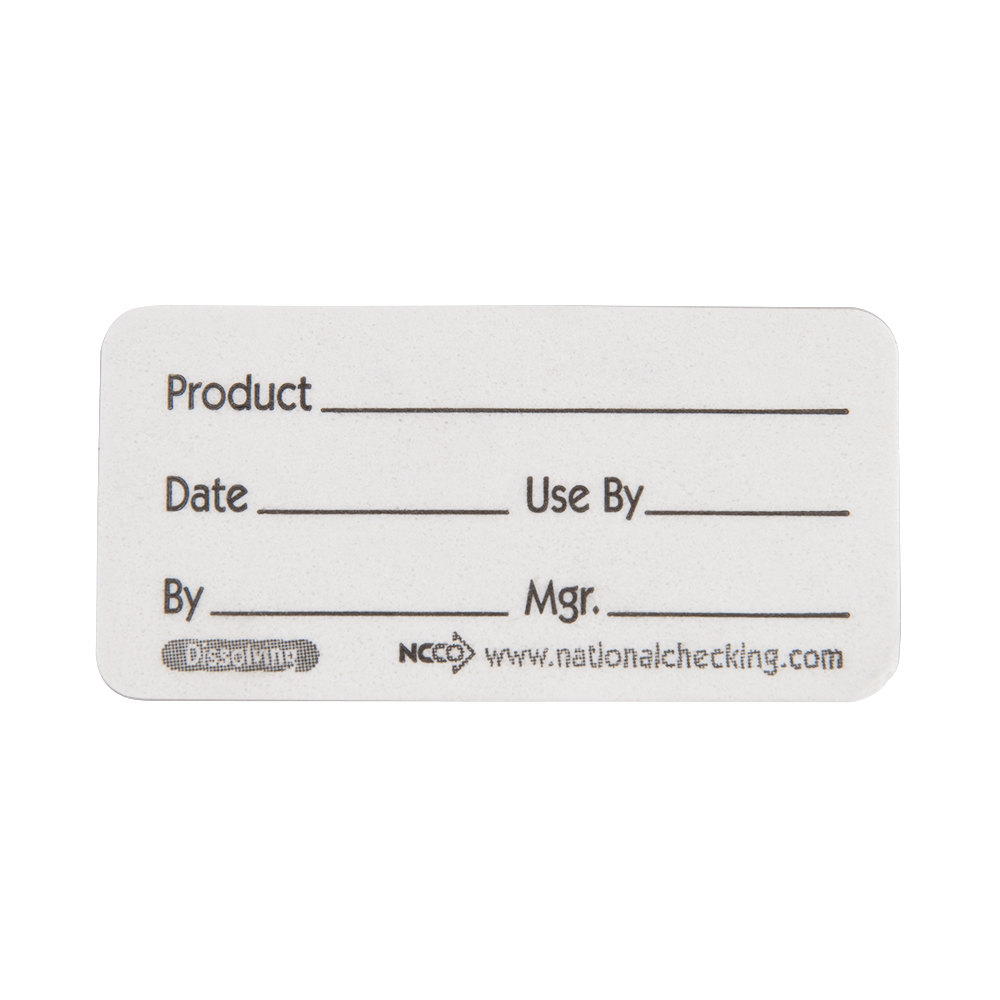 1 inch x 2 inch Dissolvable Product Label - 500 / Roll