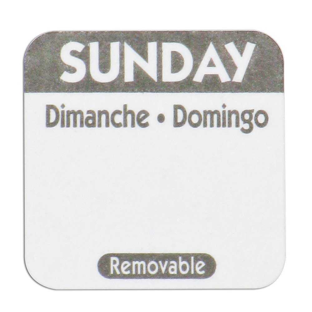 Sunday Day Dot Removable Label 1 inch 1000 / Roll