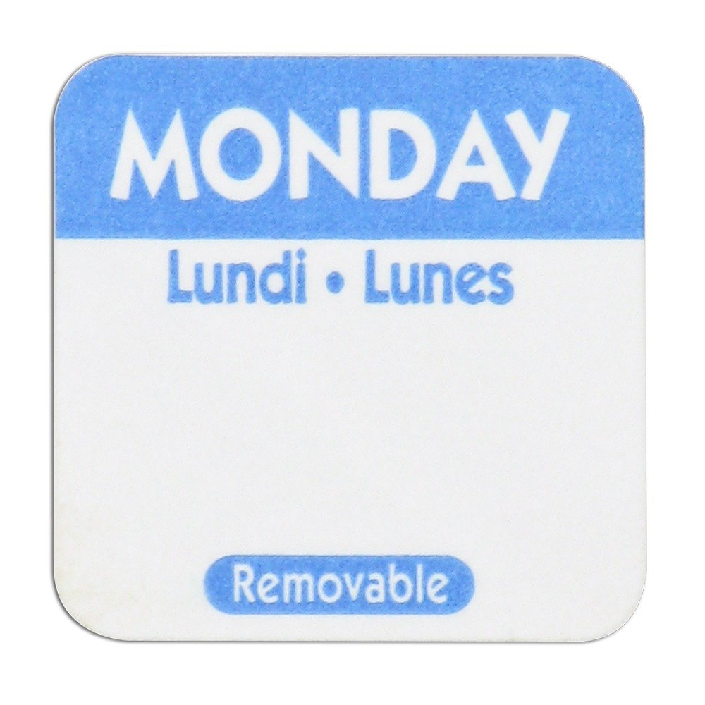 Monday Day Dot Removable Label 1 inch 1000 / Roll