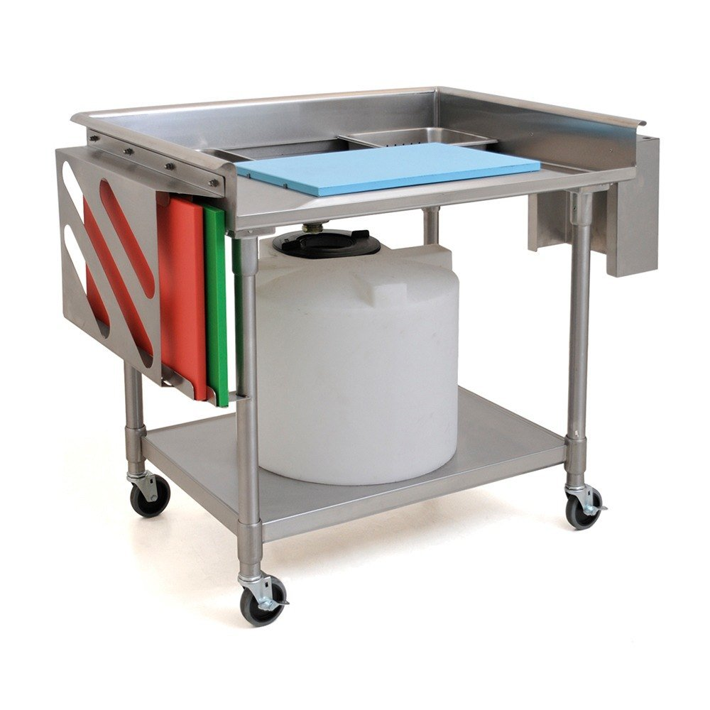 eagle group mpt3042 30 x 42 stainless steel mobile prep table - Kitchen Prep Table Stainless Steel