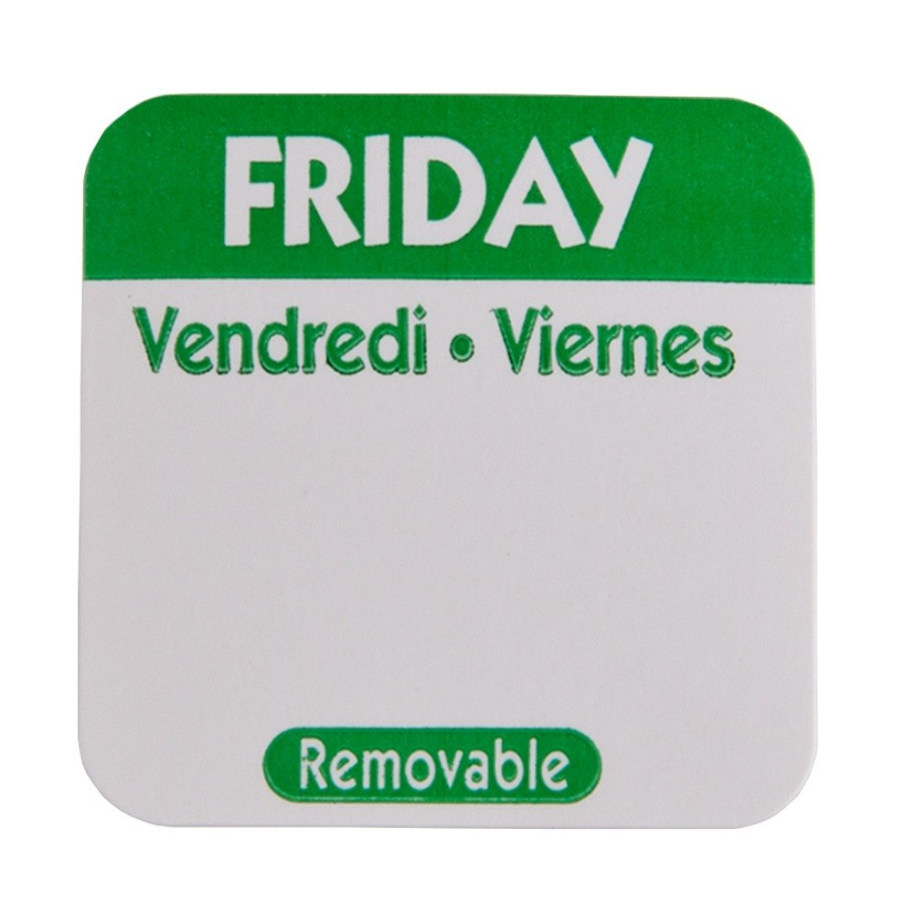 Friday Day Dot Removable Label 1 inch 1000 / Roll