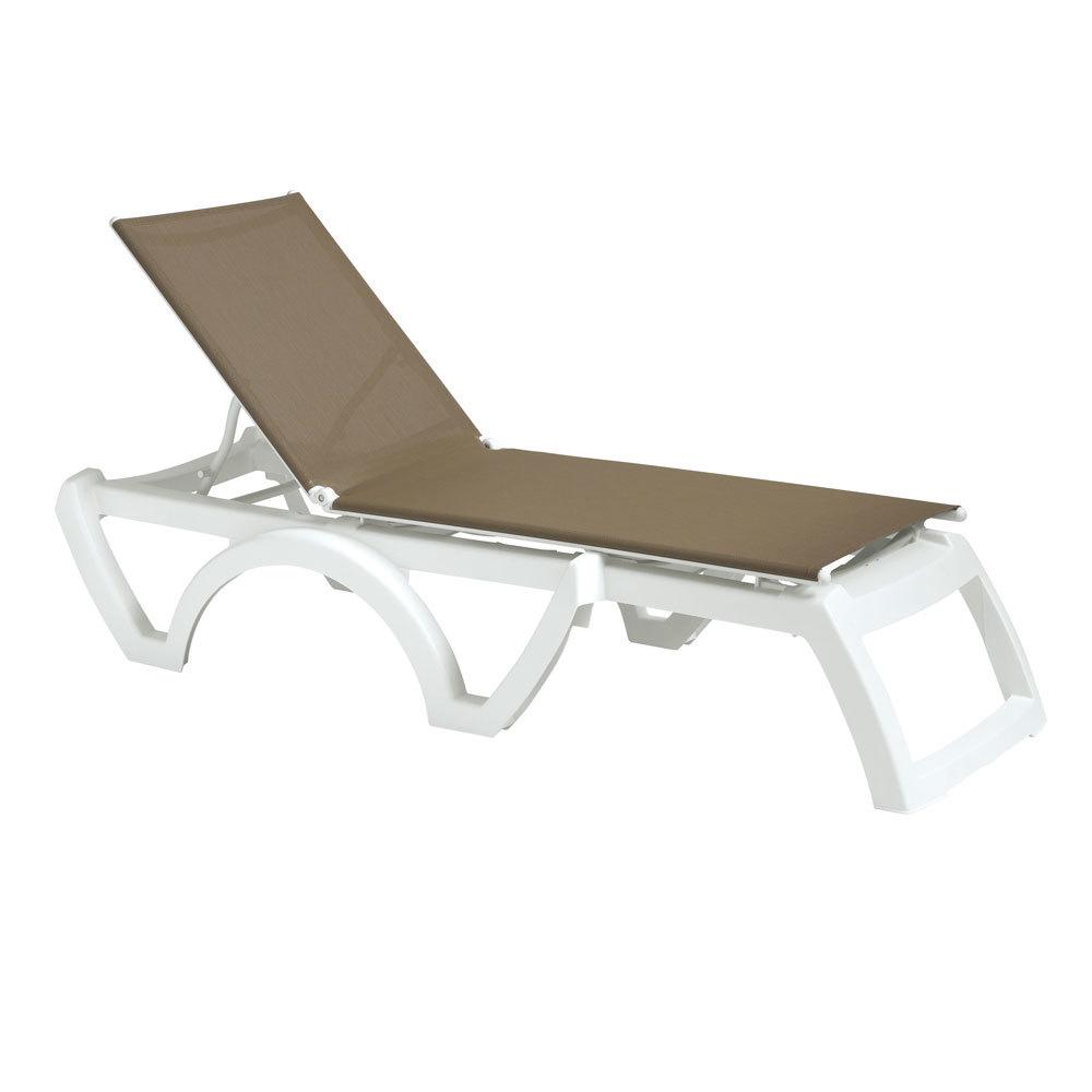 grosfillex calypso stacking adjustable resin sling chaise. Black Bedroom Furniture Sets. Home Design Ideas