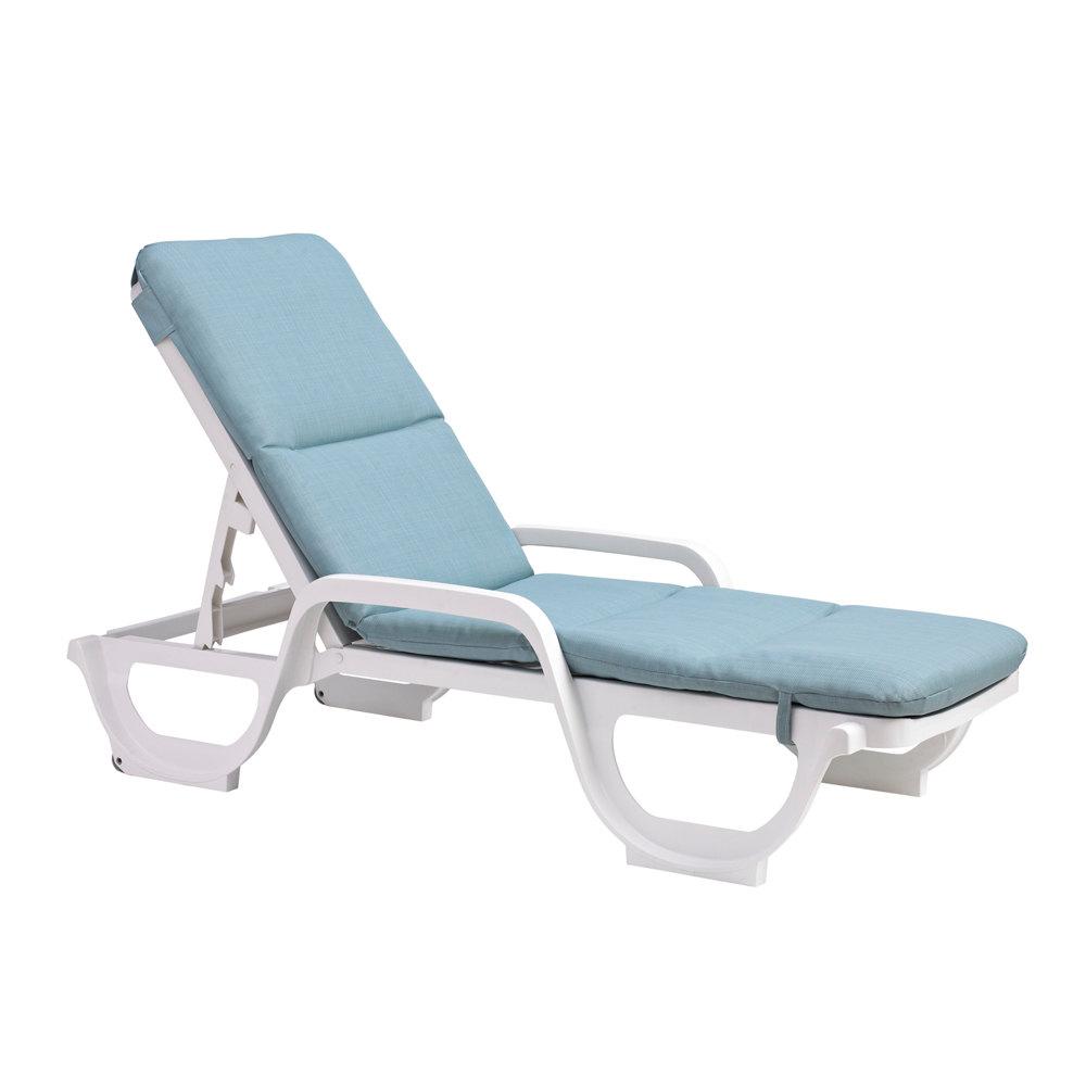Grosfillex 98415031 Spa Blue Deck Chair Cushion With Hood