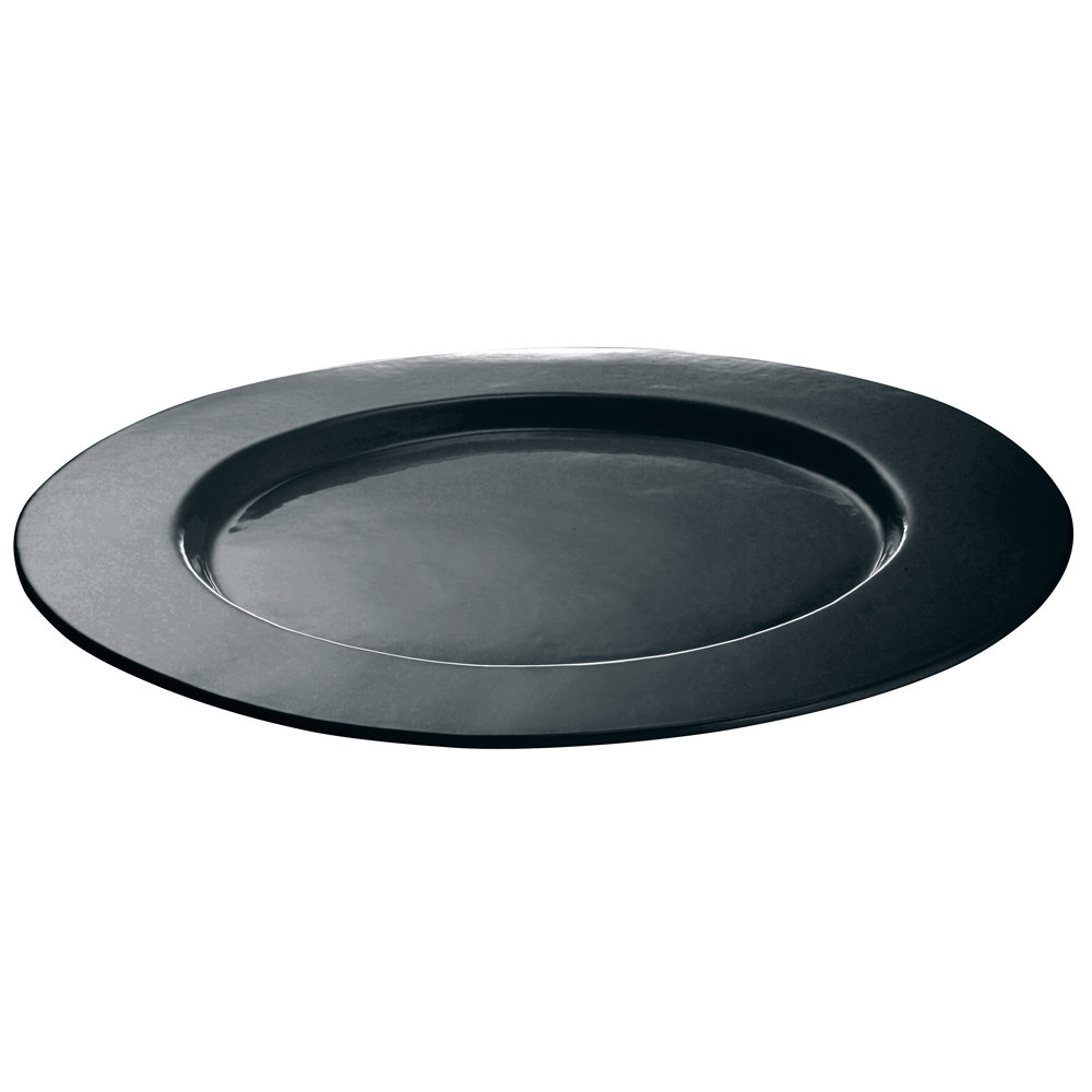 Tablecraft CW11004 16 inch Black Cast Aluminum Round Serving Plate