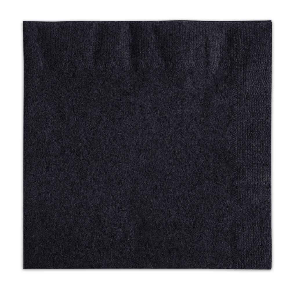 Choice Black Beverage / Cocktail Napkin - 250 / Pack
