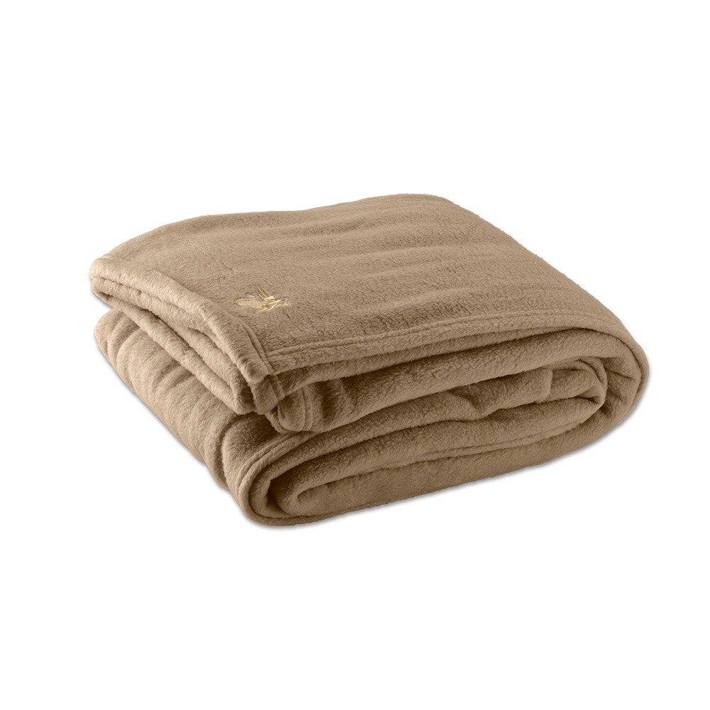 fleece hotel blanket 100 polyester desert tan twin 66 x 90. Black Bedroom Furniture Sets. Home Design Ideas