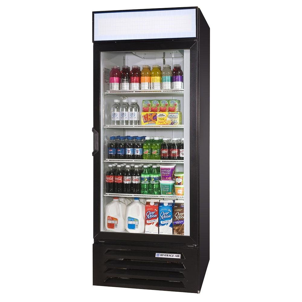 Beverage Air (Bev Air) LV27-1-B-LED Black LumaVue 30 inch Refrigerated Glass Door Merchandiser with LED Lighting - 27 Cu. Ft.