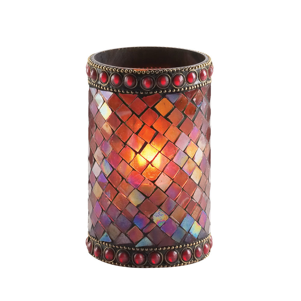 Sterno Products 80110 4 3 4 Quot Red Beaded Mosaic Liquid