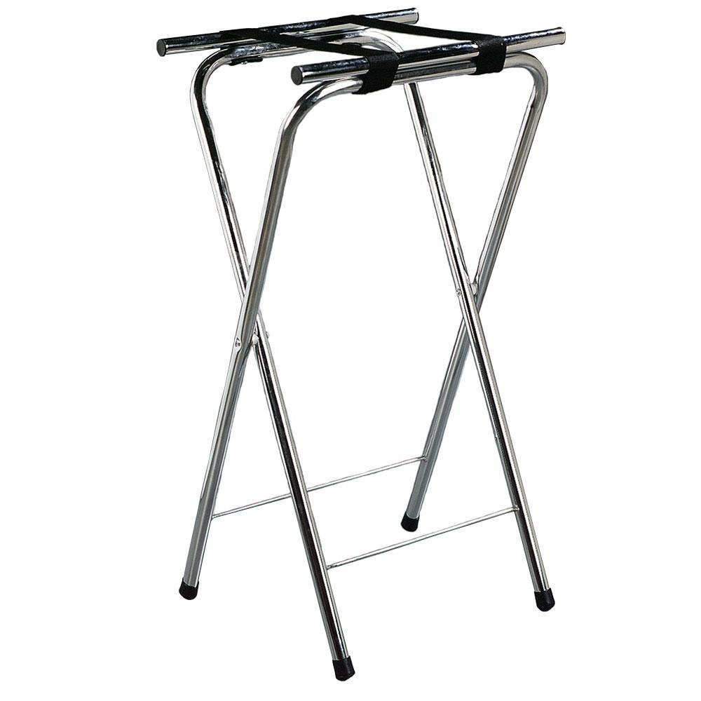 "Carlisle C3625T38 36"" Folding Chrome Tall Tray Stand"