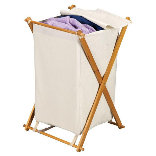Wood x frame collapsible laundry hamper - Collapsible clothes hamper ...